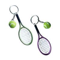 Portachiavi portachiavi ciondolo portachiavi con racchetta da tennis 2pz