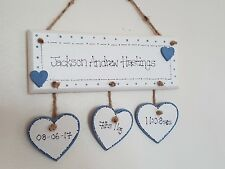 New Baby Personalised Wall Plaque