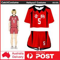 Raymonj Haikyuu Nekoma Costume High School Volleyball Club Uniform Jacket and Pants Set Anime Cosplay Costume Red Sportswear