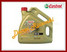 CASTROL EDGE FST 5W40 TURBO DIESEL lt.4 OLIO MOTORE LUBRIFICANTE 100% SINTETICO