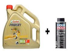 Castrol Power 1 Oil 4T 10w-40 4lt 4 stroke 10w40 Liqui Moly Bike Engine Flush