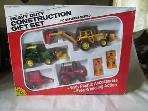 Heavy Duty Construction Farm Giftset CAT Backhoe Massey Ferguson John Deere 3185