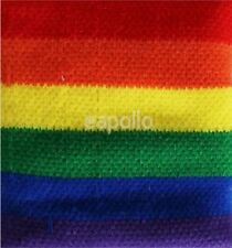 Unisex Gay Pride Rainbow Stripe Sweatband Wristband - Brand New