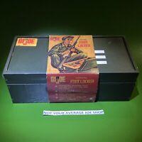 VINTAGE 1964 GI JOE Foot Locker With ORIGINAL SLEEVE!-WALNUT TRAY! WOW-LOOK🥰🥰