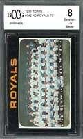 1971 topps #742 KANSAS CITY ROYALS TC team card BGS BCCG 8