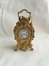 Pendulette pendule miniature bronze doré Gilded golden clock