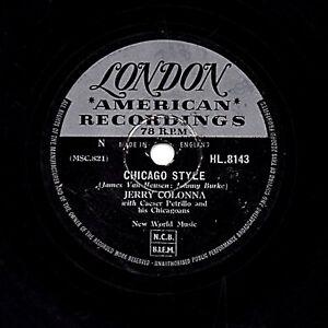 JERRY COLONNA COMEDY JAZZ  78  CHICAGO STYLE / BAFFI  UK LONDON HL 8143 V