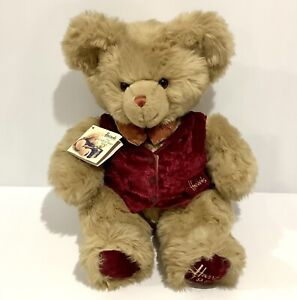 """Collectable Vintage Harrod's Christmas Bear 1996 With Tag 13"""" / 33cm - Harrods"""