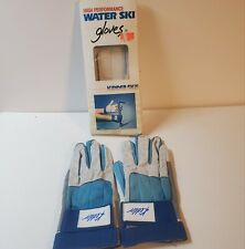 Vintage KIDDER Pro Grip High Performance water ski gloves size Medium  Blue