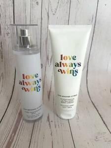 New Bath & Body Works LOVE ALWAYS WINS Shea Body Cream & Fine Fragrance Mist