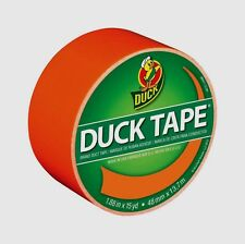 "NEW Duck Tape Duct Tape 1.88"" x 15 Yd. Orange Color, Color Coding Crafts 1265019"