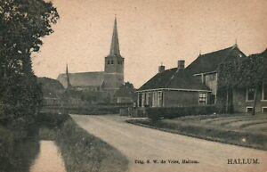 Netherlands Church Hallum Friesland Netherlands Postcard