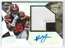2015 Panini Certified Freshman Fabric Patch AUTO RC /799 Vince Mayle Browns
