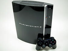 Sony PS3 Playstation 3 Fat Piano Black Konsole 80 GB ~2721