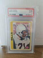 1978 Topps Football # 148 Mike Kadish PSA 9 MINT Bills
