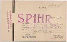 SP1HR QSL Radio Card Poland 1937 Polska - Lwów to Lisbon CT1CV Portugal