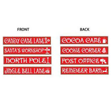 Party Decoration Christmas North Pole Wall Cutouts Street Signs pack of 4