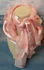 Breast Cancer Awareness Pink Ribbon Ladies Silk Looking Scarf