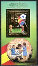 Centre Africaine 1983 Football Espagne Spain Platini Gold Foil Or Mi bloc 234 A