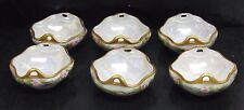 Set of 6 Antique M Z Austria Hand Decorated Porcelain Nut Dishes 1884 - 1909