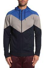 Burnside - Colorblock Zip Fleece Hoodie 2XL blue gray black  ys1