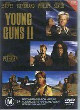 Young Guns 2 DVD Emilio Estevez Kiefer Sutherland William Petersen Region 4