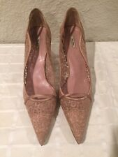 Miu Miu Pink Lace Pumps 40EU/10US Made in Italy