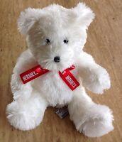 "Hershey Park Plush White 9"" Teddy Bear Toy Souvenir Stuffed Animal"