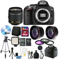 Nikon D5300 24.2MP DSLR Camera with 64GB Top Accessory Kit