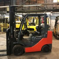 2014 Toyota 8FGCU30 6000lbs Used Forklift LP Gas Triple Mast Sideshift 6734 Hrs