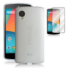 TPU soft Cover Case Skin+1x Clear Screen Protector for LG Google Nexus5 CLEAR