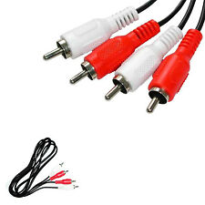 2 RCA TO 2 RCA 12FT  STEREO CHANNEL AUDIO CABLE ADAPTER