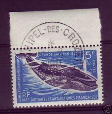 TAAF N° 22   BALEINE BLEUE OBLITERE CROZET