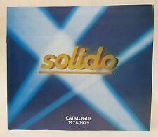 SOLIDO 1978-79 DIECAST CATALOG - unused near mint plus to mint