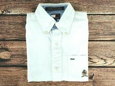 Mens Vintage TOMMY HILFIGER Short Sleeve Shirt White   Fitted XS