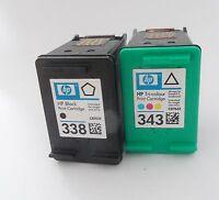 2x Druckerpatronen XXL für HP 338 & 343 Photosmart C3180 7850 XI 8030 8049 8050