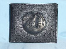 New York  NY METS   Leather BiFold Wallet   NEW   black