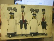 Other Old Postcard Victorian Random Baden Germany or Holland Folk Costume People