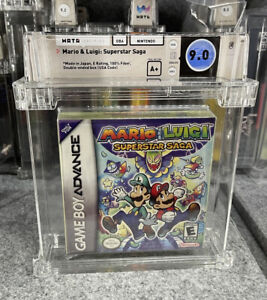 Mario and Luigi Superstar Saga Gameboy Factory Sealed Brand New WATA 9.0 A+ GBA