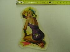 Schiebebild Wasserbild Aufkleber PIN UP Girl Sammelbild Nostalgie Rarität 70er J