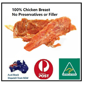 Chicken Breast JERKY Dehydrated Natural Chicken 1KG  Aust Made FREE Delivery