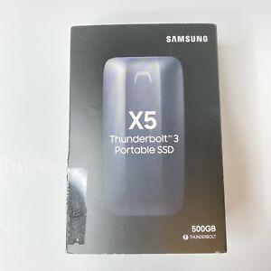 SAMSUNG PORTABLE SSD X5 500GB (MU-PB500B) THUNDERBOLT *Tested/Working* w/ Box