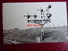 PHOTO  DARKROOM - SEMAPHORE SIGNAL HACKEN DN NEWTON ABBOT 1963
