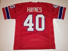 UNSIGNED CUSTOM Sewn Stitched Mike Haynes Red Jersey - M, L, XL, 2XL