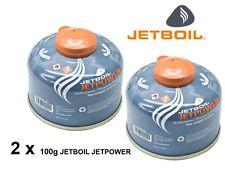 2 x Jetboil Jetpower Fuel 100g Camping Gas Isobutane Propane Fuel Mix