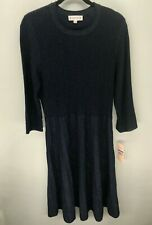 Nanette Lepore - Women's Black Frayed Hem Office Sweaterdress - XL - nn9f18p11