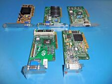 AGP Video Graphics Cards Mixed Lot of 5