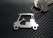 GOLF BUGGY Cart Golfer Course Keyring Keychain Key Bespoke Stainless Steel Gift