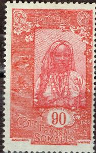 French Somalia Tribal Girl stamp 1942 MLH