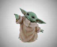 Wars Star Yoda Obi Wan Mandalorian Figure Child Black Vinyl model 8 cm